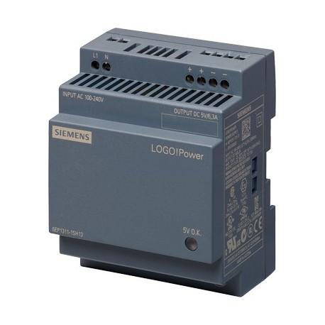 Fuente de alimentación LOGO!Power, monofásica, 5 V DC/6.3 A