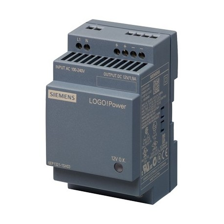 Fuente de alimentación LOGO!Power, monofásica, 12 V DC/1,9 A