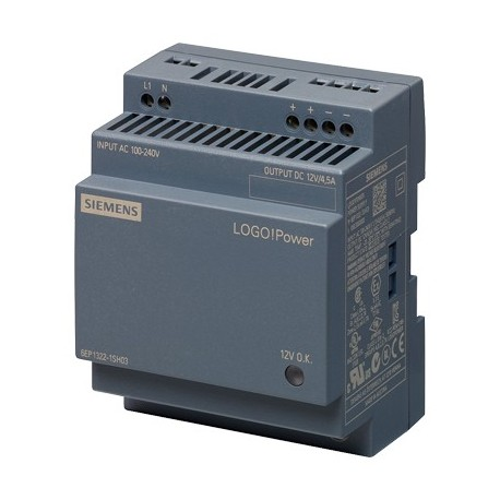 Fuente de alimentación LOGO!Power, monofásica, 12 V DC/4,5 A