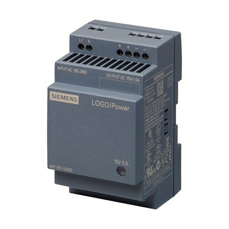 Fuente de alimentación LOGO!Power, monofásica, 15 V DC/1,9 A