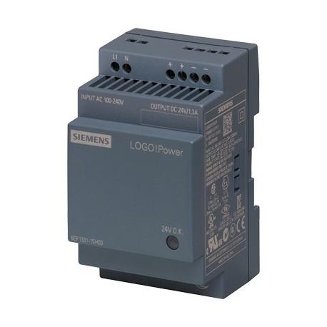 Fuente de alimentación LOGO!Power, monofásica, 24 V DC/1,3 A