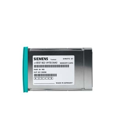 SIMATIC S7-400, memory card Flash 5 V MC 952 para S7-400, forma constructiva Larga, 64 Kbyte