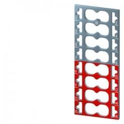 SIMATIC ET 200, 10 etiquetas de codificación por color para ET 200SP, 8 x gris + 8 x rojo, específic