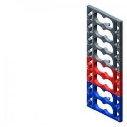 SIMATIC ET 200, 10 etiquetas de codificación por color para ET 200SP, 9 x gris + 4 x rojo + 3 x azul