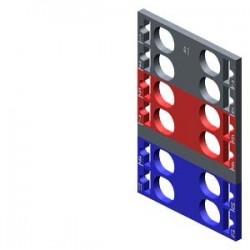 SIMATIC ET 200, 10 etiquetas de codificación por color para ET 200SP, 4 x gris + 4 x rojo + 4 x azul
