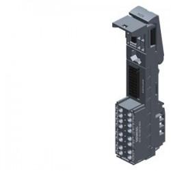 SIMATIC ET 200SP, BaseUnit BU20-P8+A4+0B, tipo BU F0, bornes PUSH-IN, con 4 bornes auxiliares, puent