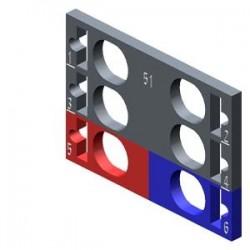 SIMATIC ET 200, 10 etiquetas de codificación por color para ET 200SP, 4 x gris + 1 x rojo + 1 x azul