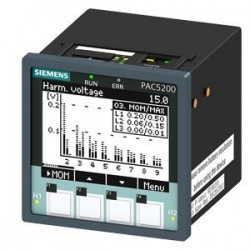SENTRON PAC5200, LCD, 96X96MM POWER MONITORING DEVICE INSTRUMENTO DE PANEL PARA MEDIR VARIABLES ELEC