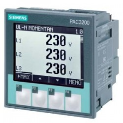 SENTRON PAC3200, LCD, 96X96MM POWER MONITORING DEVICE APARATO MODULAR CON PANEL PARA MEDICION DE MAG