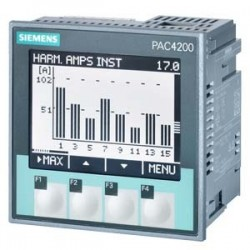 SENTRON PAC4200, LCD, 96X96MM ANALIZADOR DE REDES CON ADAPTADOR PARA PERFIL DIN PARA MEDIR MAGNITUDE