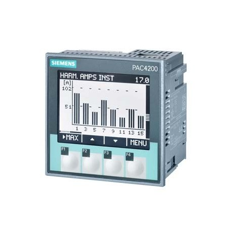 SENTRON PAC4200, LCD, 96X96MM POWER MONITORING DEVICE APARATO MODULAR CON PANEL PARA MEDICION DE MAG