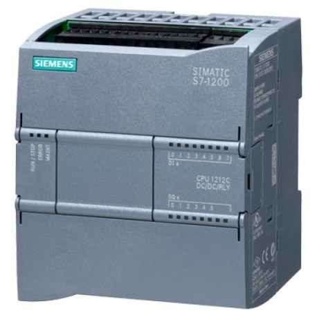 S7-1200, CPU 1212C, DC/DC/DC, 8DI/6DO/2AI A 24VDC