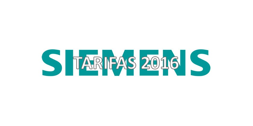 Nuevas Tarifas Siemens 2016